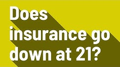 Does insurance go down at 21?