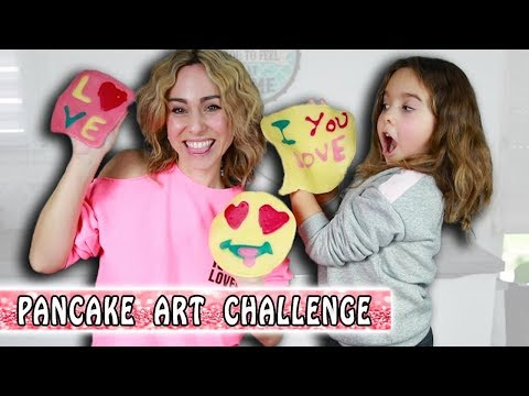 PANCAKE ART CHALLENGE Saint Valentin 💕