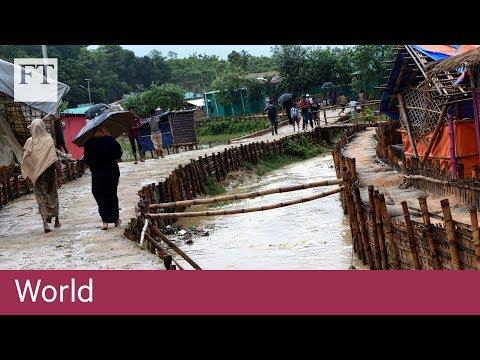 Rohingya refugee camp hit by monsoon