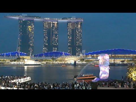 Keindahan Singapore Malam Ini saat bulan purnama - 동영상
