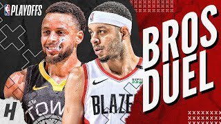 Download Stephen Curry vs Seth Curry BEST Brothers Moments & Highlights from 2019 NBA West Finals! Mp3 and Videos