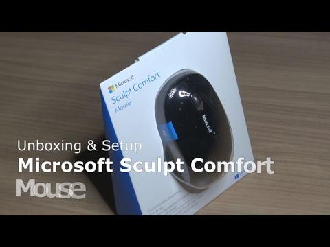 Microsoft Sculpt Comfort Mouse Bluetooth Maus Unboxing Setup Sondertasten Fur Windows 10 8 Youtube