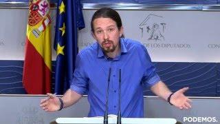 Rueda de prensa de Pablo Iglesias. 26 de Abril de 2016