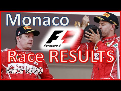 2017 F1 Monaco GP - Race RESULTS Sebastian Vettel win, Mercedes out of podium (2017 Formula 1)