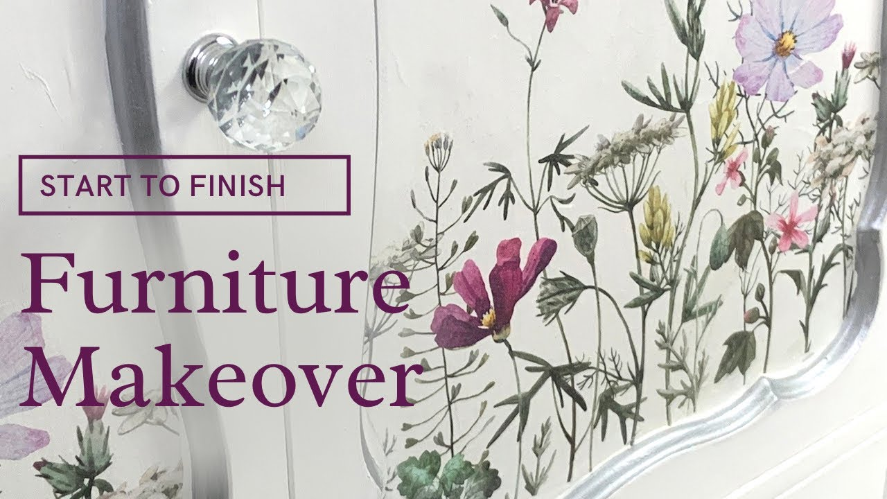 Furniture Makeover Using Dixie Belle Paint | Trash to Treasure Furniture Flip |Start to Finish