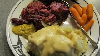 Baked Corned Beef & Creamed Cauliflower Recipe
