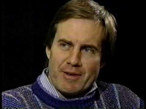 Bill Belichick interviewed by Jim Donovan following 1991 season