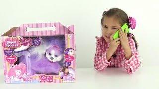 Видео для детей Ждём Щенков  Настя и Катя играют в игрушки для девочек