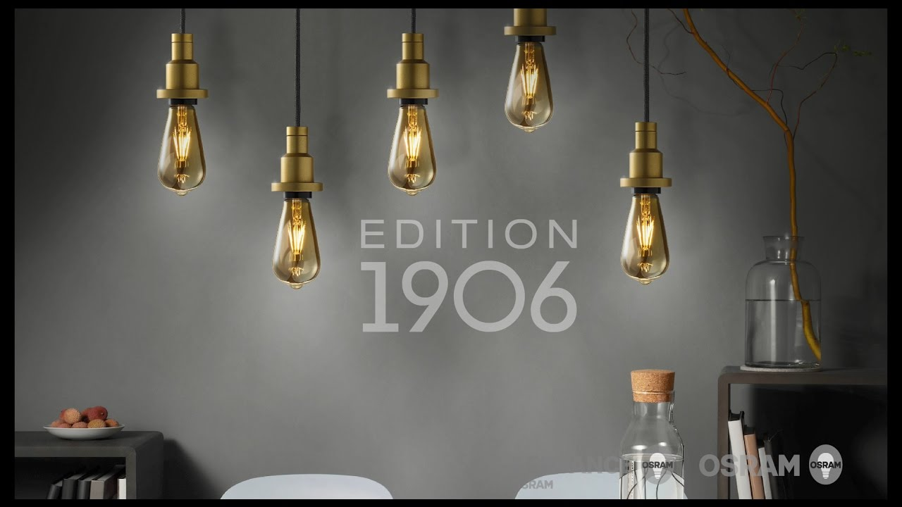 edition 1906 vintage lampes et luminaires dans un style r tro youtube. Black Bedroom Furniture Sets. Home Design Ideas