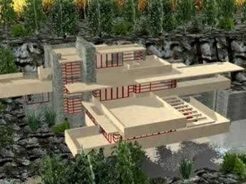 Casa de la cascada frank lloyd wright youtube - La maison sur la cascade ...