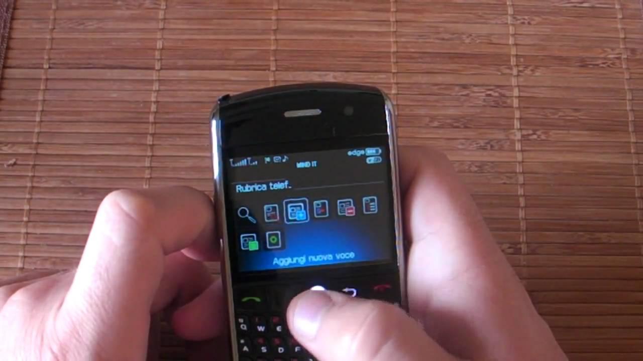 rubrica blackberry bold su pc