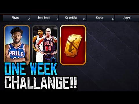 Free Variety Packs!!! NBA LIVE MOBILE 1 Week Challenge Vs Danny Awesome  NBA LIVE MOBILE!!