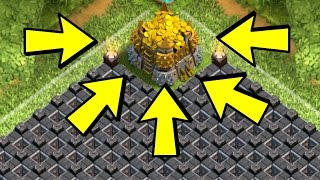 Clash of Clans - NEVER LOSE GOLD! MAXIMUM PROTECTION! Best Town Hall 8 Farming Base!