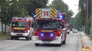 [Neue Scania DLK 42] Großalarm bei AGRAVIS Cloppenburg - Anfahrten Feuerwehr, Rettungsdienst & THW