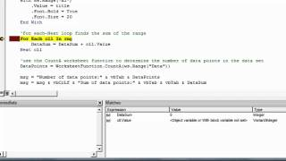 Excel VBA - Debug with the Watch Window