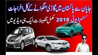 japanese used cars import |customs duty rates in pakistan<