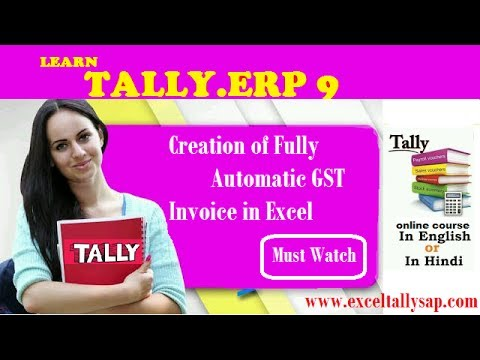 Creation of Fully Automatic GST Invoice in EXCEL