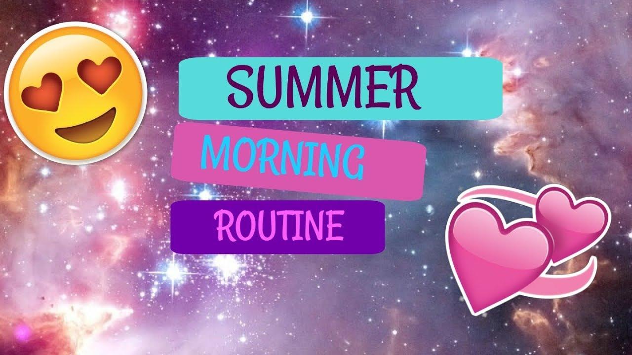 """Моята сутрешна рутина през лятото /My morning routine in summer/Mina""""s Channel"""