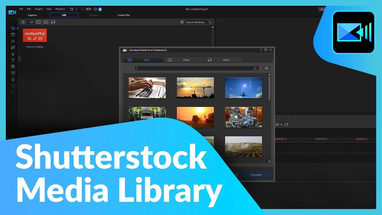 Using Shutterstock's Media Library | PowerDirector 365