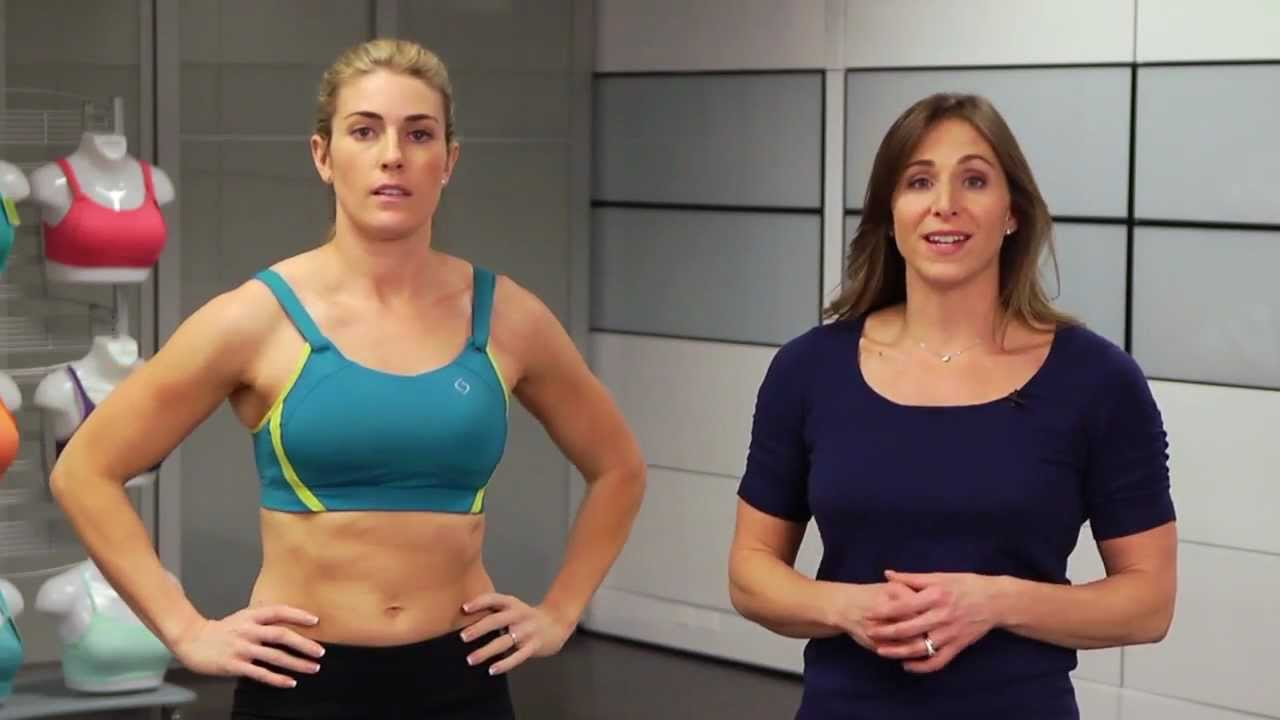 8ac04de8bc74f Jubralee Sports Bra by Moving Comfort - YouTube