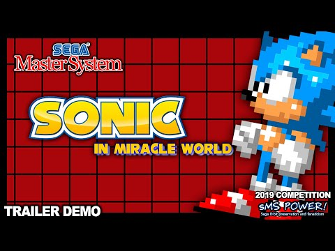 TRAILER Sonic In Miracle World NEW 2019 SEGA MASTER SYSTEM