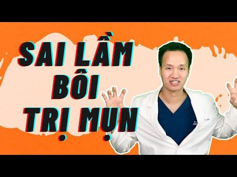 SAI LẦM KHI BÔI THUỐC TRỊ MỤN   Dr Hiếu