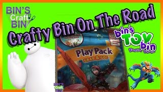 Crafty Bin On the Road: Big Hero 6 Fun Pack Opened and Colored from the Road! By Bins Crafty Bin