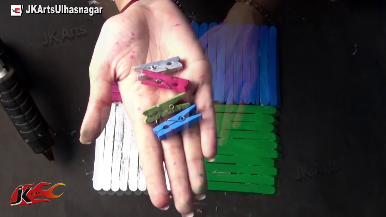 Diy photo frame from ice cream sticks popsicle sticks how to diy photo frame from ice cream sticks popsicle sticks how to make jk arts 681 youtube jeuxipadfo Gallery