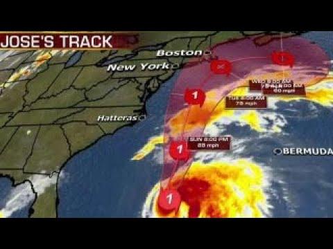 Forecasters monitoring track of Hurricane Jose