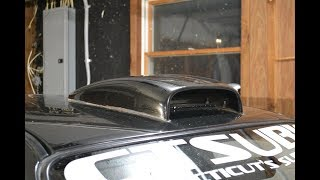 Rally style roof scoop install and review