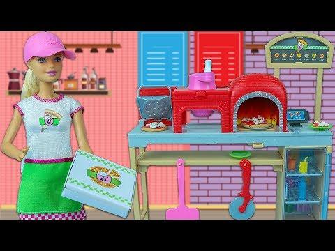 Barbie Pizza Şefi Oluyor 🍕🍕| Barbie Is Getting Pizza Chef 🍕🍕
