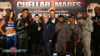 Jesus Cuellar vs. Abner Mares Full Final Press Conference & Face Off video