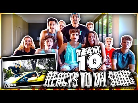 TEAM 10 FINALLY REACTS TO MY MUSIC
