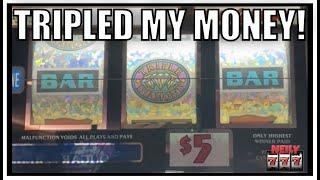 Old School Slots ROCK! Tripled up my money on TRIPLE DIAMOND!