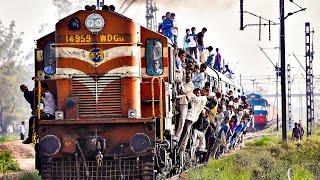 Путешествие на индийском поезде! 2000 км в переполненных вагонах и обзор поезда! Настоящая Индия.