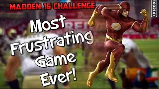 THE INCREDIBLE FLASH JOINS THE NFL?? Madden 16 Superhero Challenge Series!