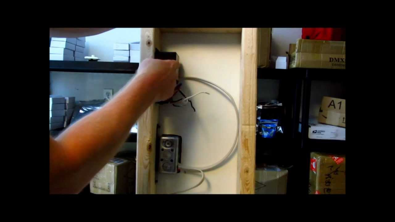lighting wiring diagram junction box how to wire a garage install led lights wall dimmer switch with dimmable driver youtube