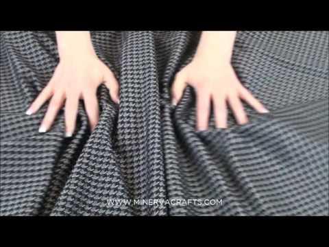 Houndstooth Metallic Ponte Roma Stretch Jersey Dress Fabric