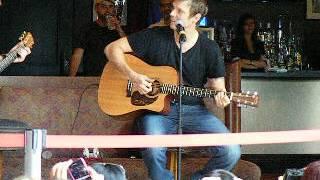 Soundcheck, Nick playing with his guitar -CNE - Toronto -Nick Carter