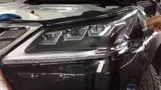 Клеим фары на Lexus LX