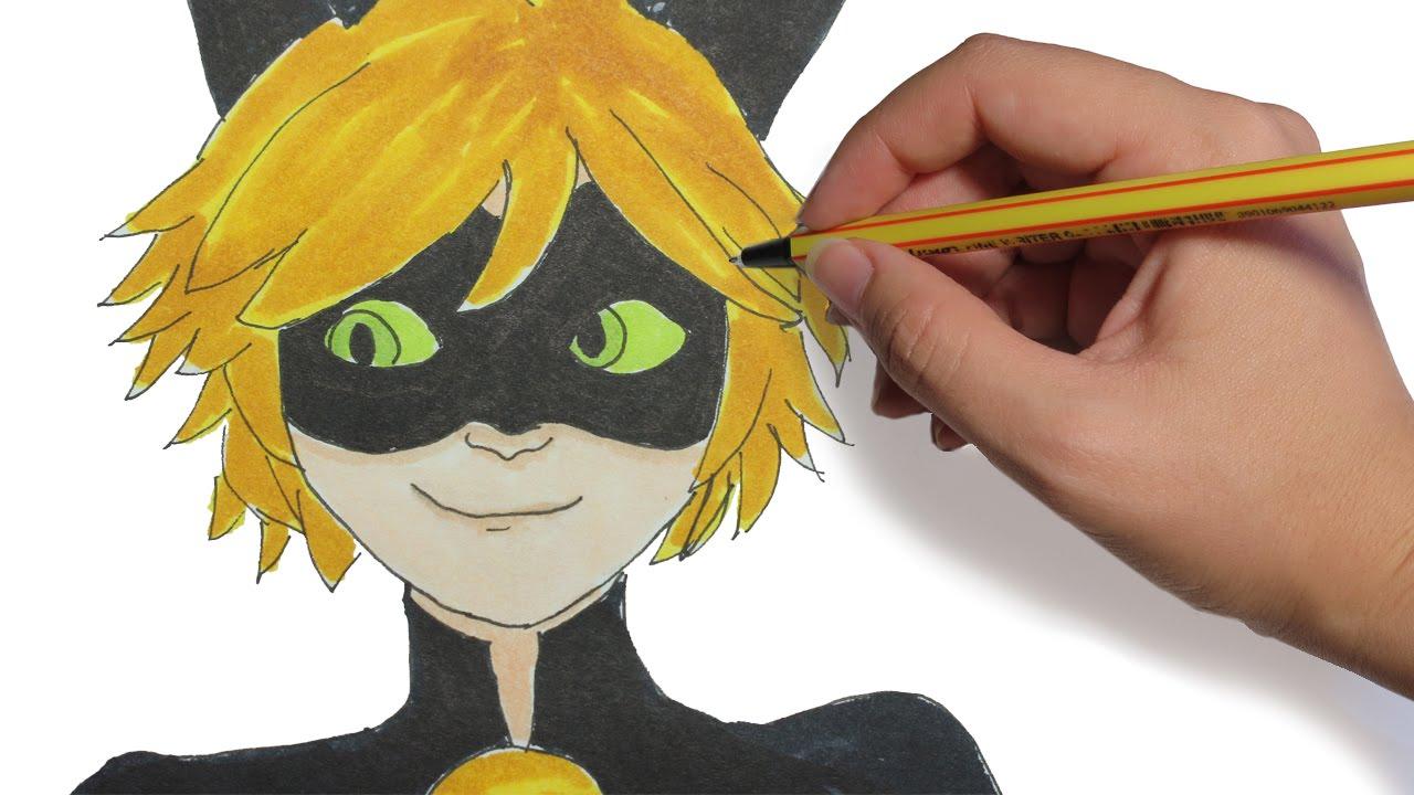 Como Dibujar A Chat Noir De Ladybug Paso A Paso