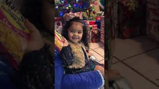 Little Girl is Excited to get Soup as Christmas Present - 980211