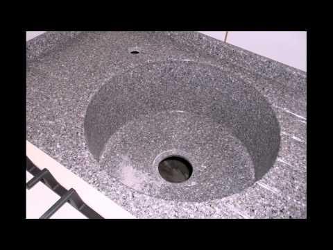 кухня 26 декабря 2013г столешница Искусственный камень Reston 40мм. литая мойка и мокрый стол