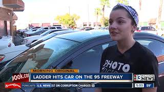 Caught on Camera: Ladder hits car on the US-95