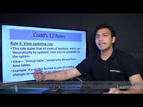 What are the Codd's 12 rules in DBMS? | Codd's 12 rules in DBMS In Hindi