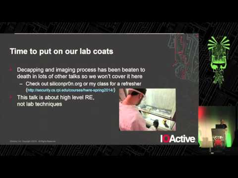 REcon 2015 - From Silicon to Compiler (Andrew Zonenberg)