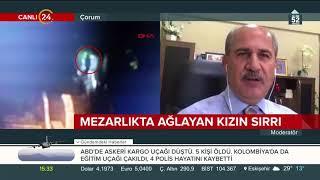 Çorum'da mezarlıkta ağlayan kızın sırrını Ahmet Yabacıoğlu, 24 TV'de anlattı