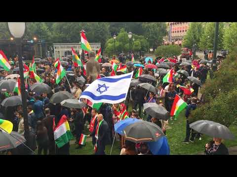 DEMONSTRATION HISTORICAL for an independent KURDISTAN IN OSLO/Norway