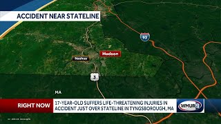 Teenager seriously hurt in accident on state line with Mass.