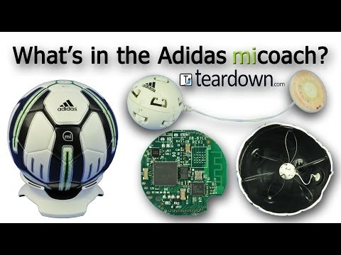 Adidas miCoach Interactive Soccer Ball with Electronic Monitoring